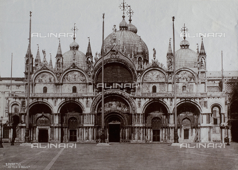 FVQ-F-120774-0000 - Façade of the Basilica of San Marco in Venice - Data dello scatto: 1865-1875 - Archivi Alinari, Firenze