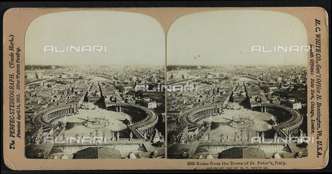 FVQ-F-125569-0000 - View of Rome from the dome of the Basilica of San Pietro; Stereoscopic photography
