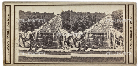 "FVQ-F-126581-0000 - ""Caserta Waterfall"", the park of the Reggia of Caserta; Stereoscopic photograph - Data dello scatto: 1880-1890 - Archivi Alinari, Firenze"