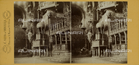 FVQ-F-127548-0000 - Inner view of the Basilica of San Marco, Venice; Stereoscopic photograph - Data dello scatto: 1865-1875 - Archivi Alinari, Firenze