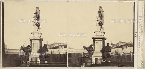 FVQ-F-133003-0000 - Monument to Ferdinando I de' Medici with the statues of the Quattro Mori at the base. Work located in Piazza Giuseppe Micheli, Livorno - Date of photography: 1860 ca. - Fratelli Alinari Museum Collections, Florence