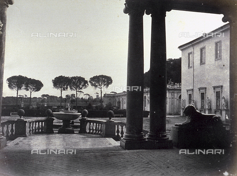 FVQ-F-141070-0000 - The gardens of Villa Medici in Rome taken from the portico of the villa - Data dello scatto: 1855 ca. - Archivi Alinari, Firenze