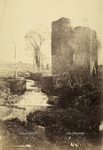 FVQ-F-141072-0000 - Destroyed tower at Tor di Quinto, Rome - Data dello scatto: 1855-1860 - Archivi Alinari, Firenze