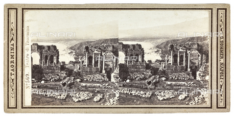 FVQ-F-141543-0000 - Taormina's ancient theater; Stereoscopic photograph - Data dello scatto: 1880-1890 - Archivi Alinari, Firenze