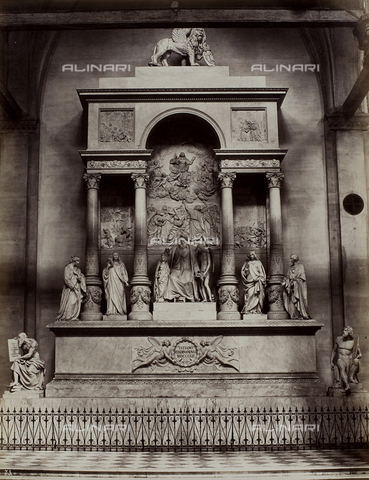 FVQ-F-147405-0000 - Funeral monument to Titian, Church of Santa Maria Gloriosa dei Frari, Venice - Data dello scatto: 1865-1875 - Archivi Alinari, Firenze