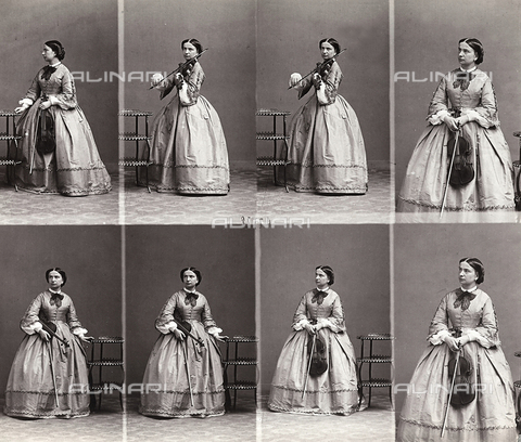FVQ-F-150246-0000 - Sequence of images of the violinist Teresa Milanollo - Data dello scatto: 1870 ca. - Archivi Alinari, Firenze