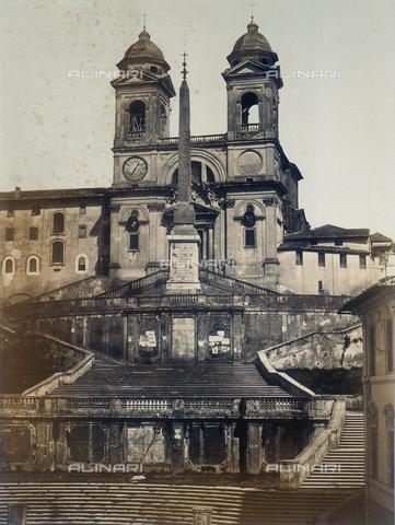 FVQ-F-158589-0000 - Chiesa di Trinità dei Monti, Roma - Data dello scatto: 1855 ca. - Raccolte Museali Fratelli Alinari (RMFA), Firenze