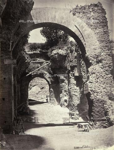 FVQ-F-158733-0000 - Rovine sul Palatino (foto attribuita a Simelli- stampata nel laboratorio Chauffourier presso cui confluirono le lastre di Simelli) - Data dello scatto: 1865 ca. - Raccolte Museali Fratelli Alinari (RMFA), Firenze