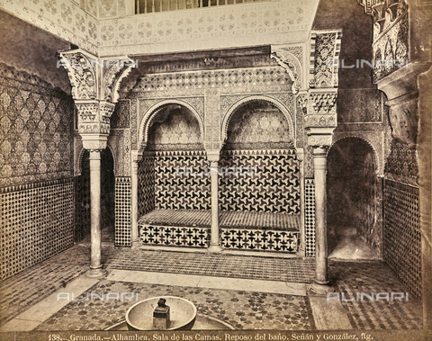FVQ-F-159302-0000 - The Sala de las Camas in the Alhambra in Granada - Date of photography: 1880-1890 ca. - Fratelli Alinari Museum Collections, Florence