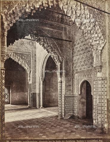 FVQ-F-159303-0000 - Sala de la Justicia in the Alhambra in Granada - Date of photography: 1880-1890 ca. - Fratelli Alinari Museum Collections, Florence