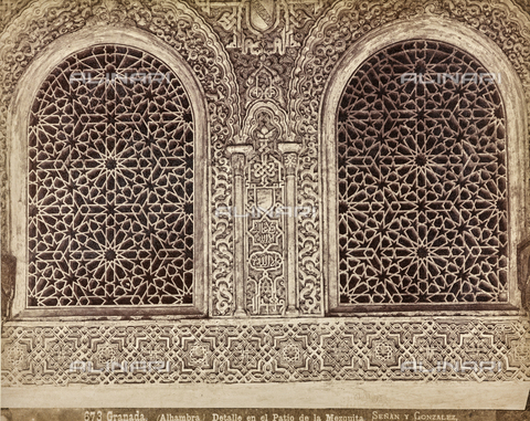 FVQ-F-159304-0000 - Detail of the Mezquita in the Alhambra in Granada - Date of photography: 1880-1890 ca. - Fratelli Alinari Museum Collections, Florence