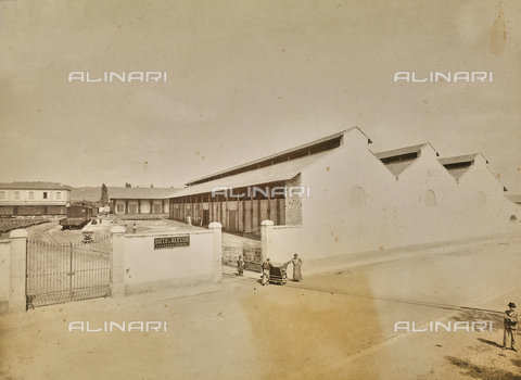 """FVQ-F-160700-0000 - The """"Ducco e Alessio"""" chemical products company near the Rifredi railway station in Florence - Date of photography: 1890-1900 ca. - Fratelli Alinari Museum Collections, Florence"""