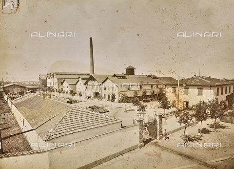 """FVQ-F-160701-0000 - The """"Ducco e Alessio"""" chemical products company near the Rifredi railway station in Florence - Date of photography: 1890-1900 ca. - Fratelli Alinari Museum Collections, Florence"""