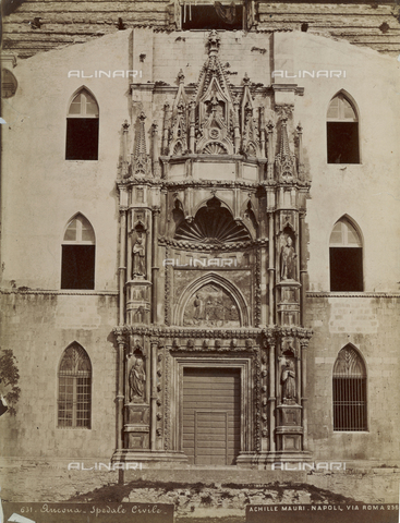 FVQ-F-163408-0000 - Facade of the Church of San Francesco alle Scale, Ancona - Date of photography: 1885 ca. - Fratelli Alinari Museum Collections, Florence