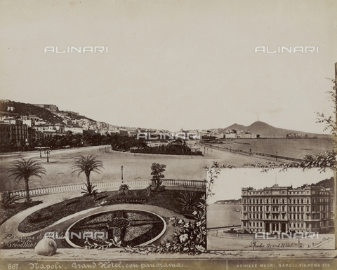 FVQ-F-182317-0000 - Grand Hotel with landscape, Napoli - Date of photography: 1890 ca. - Fratelli Alinari Museum Collections, Florence