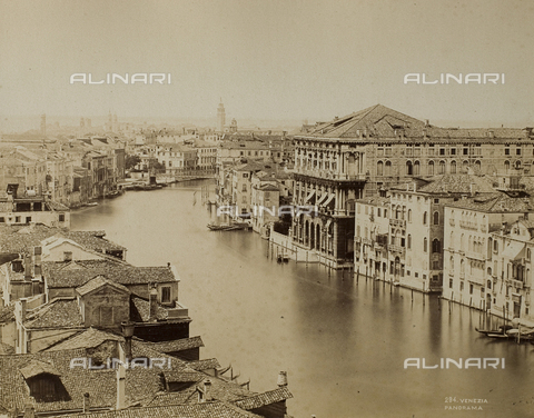 FVQ-F-192671-0000 - Panoramic view of the Grand Canal in Venice - Data dello scatto: 1865-1875 - Archivi Alinari, Firenze