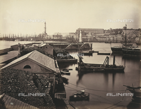 FVQ-F-198565-0000 - View of the port of Genoa - Data dello scatto: 1870 - 1875 ca. - Archivi Alinari, Firenze