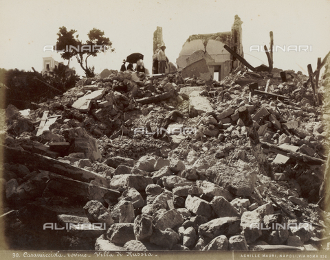 FVQ-F-198585-0000 - The Russia Villa in ruins after the earthquake, Casamicciola, Ischia - Date of photography: 1883 - Fratelli Alinari Museum Collections, Florence