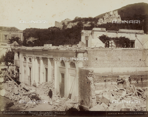 FVQ-F-198596-0000 - Bagni Gurgitello, Manzi and Villa Belliazzi in ruins after the earthquake, Casamicciola, Ischia - Date of photography: 1883 - Fratelli Alinari Museum Collections, Florence