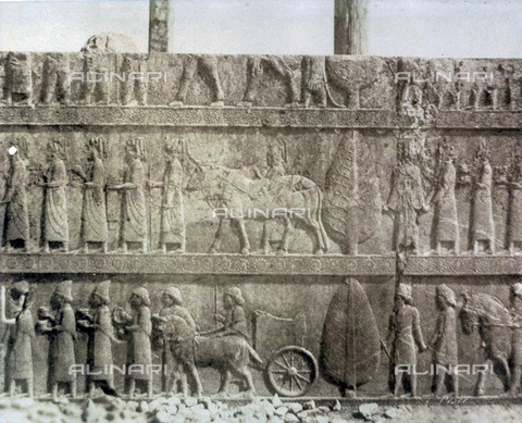 FVQ-F-198902-0000 - Bass-relief containing scene of religious ritual, from the ruins of Thermopylae - Archivi Alinari, Firenze