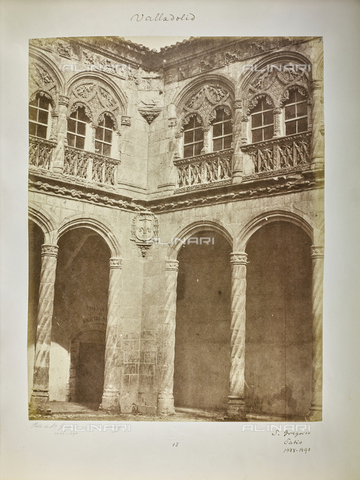 FVQ-F-205897-0000 - Detail of the courtyard of National Museum of Sculpture (former school of St. Gregory), Valladolid - Data dello scatto: 1858-1862 - Archivi Alinari, Firenze