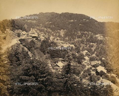 FVQ-F-206765-0000 - Panorama di Simla (Shimla), vicino alla catena montuosa dell'Himalaya, India - Data dello scatto: 1863 - 1870 ca. - Raccolte Museali Fratelli Alinari (RMFA), Firenze