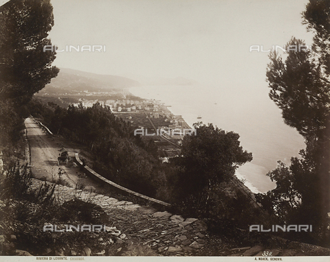 FVQ-F-211067-0000 - Elevated view of the town of Chiavari, Genoa - Data dello scatto: 1890 ca. - Archivi Alinari, Firenze