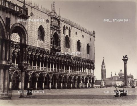 FVQ-F-211389-0000 - Venice. Palazzo Ducale and l'Isola di S.Giorgio - Data dello scatto: 1870 ca. - Archivi Alinari, Firenze