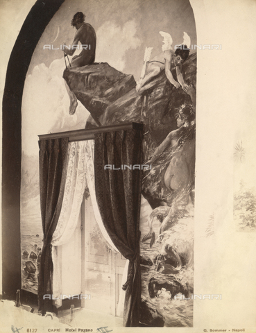 FVQ-F-225235-0000 - Mythological story, fresco, Hotel Pagano, Capri - Data dello scatto: 1870-1880 - Archivi Alinari, Firenze