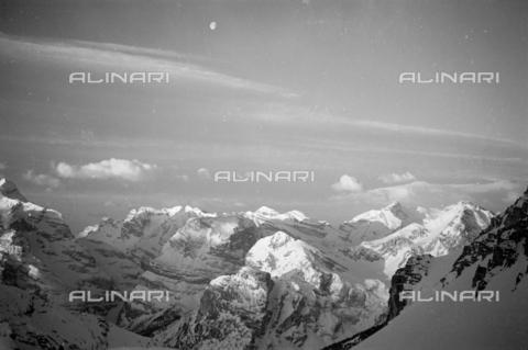 GBA-S-000178-0020 - Veduta di montagne innevate, Cortina d'Ampezzo - Data dello scatto: 06/02-27/02/1941 - Archivi Alinari, Firenze