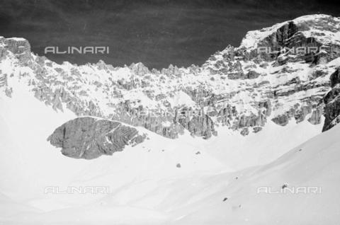 GBA-S-000178-0034 - Montagne innevate, Cortina d'Ampezzo - Data dello scatto: 06/02-27/02/1941 - Archivi Alinari, Firenze