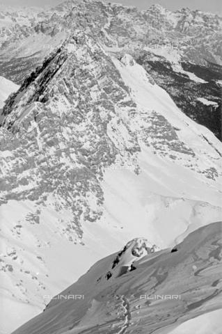 GBA-S-000178-0042 - Montagne innevate, Cortina d'Ampezzo - Data dello scatto: 06/02-27/02/1941 - Archivi Alinari, Firenze