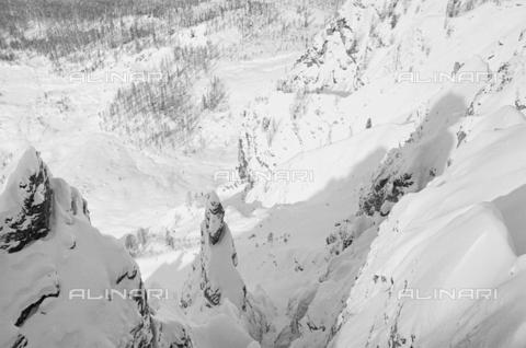GBA-S-000178-016A - Montagna innevata, Cortina d'Ampezzo - Data dello scatto: 06/02-27/02/1941 - Archivi Alinari, Firenze