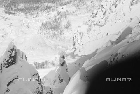 GBA-S-000178-017A - Montagna innevata, Cortina d'Ampezzo - Data dello scatto: 06/02-27/02/1941 - Archivi Alinari, Firenze
