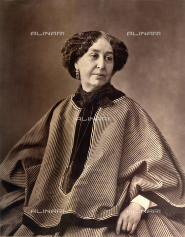 GBB-F-000092-0000 - GEORGE  SAND, pseudonym of french writer Aurore Dupin, baronesse Dudevant  (Paris, 1804 - Nohant, Indre, 1876), phograph by  NADAR - © ARCHIVIO GBB / Archivi Alinari