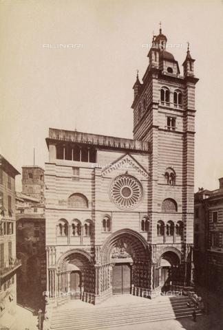 GBB-F-000601-0000 - 1875 ca, GENOVA,  ITALY: The CATTEDRALE DI SAN LORENZO. Photo by Alfred Noack - © ARCHIVIO GBB / Archivi Alinari
