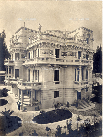 GBB-F-000602-0000 - 1910, GENOVA,  ITALY: The  VILLA LAVARELLO (Via San Nazzaro) in SAN FRANCESCO D' ALBARO (Genova), by celebrated Liberty style architect GAETANO  ORZALI (1873 - 1954). Photo by A. Noack, Genova - © ARCHIVIO GBB / Archivi Alinari