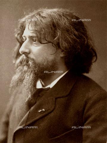 GBB-F-004093-0000 - The french writer ALPHONSE DAUDET (1840 - 1897), author of L'ARLESIENNE (1872, later in music by Bizet and Cilea) and TARTARINE DE TARASCONE (1872). - © ARCHIVIO GBB / Archivi Alinari