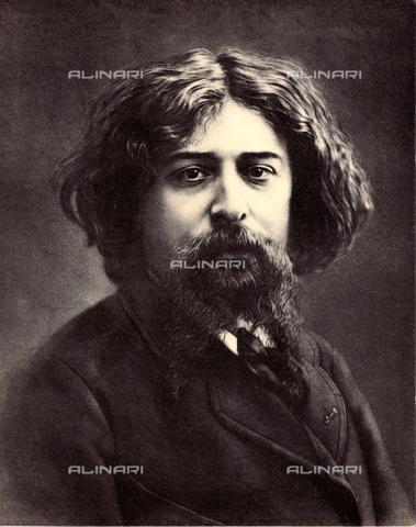 GBB-F-004094-0000 - 1878 ca, Paris, FRANCE : The french writer ALPHONSE DAUDET (1840 - 1897), author of L'ARLESIENNE (1872, later in music by Bizet and Cilea) and TARTARINE DE TARASCONE (1872). - © ARCHIVIO GBB / Archivi Alinari