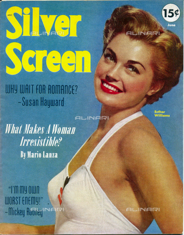 GBB-F-004304-0000 - 1952, HOLLYWOOD, USA : The american actress ESTHER WILLIAMS (1922 - 2013), cover of movie fans magazine SILVER SCREEN, june 1952 - © ARCHIVIO GBB / Archivi Alinari