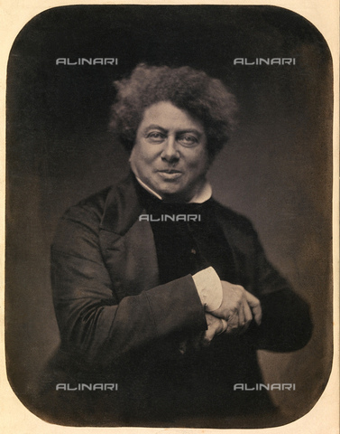 GBB-F-004794-0000 - 1855 ca, PARIS, FRANCE : The french writer, poet and playwriter ALEXANDRE DUMAS father (père, padre, Paris 1802 - 1870), author of I TRE MOSCHETTIERI (The Three Musketeers 1844) and IL CONTE DI MONTECRISTO (The Count of Monte Cristo, 1845 1846). - © ARCHIVIO GBB / Archivi Alinari
