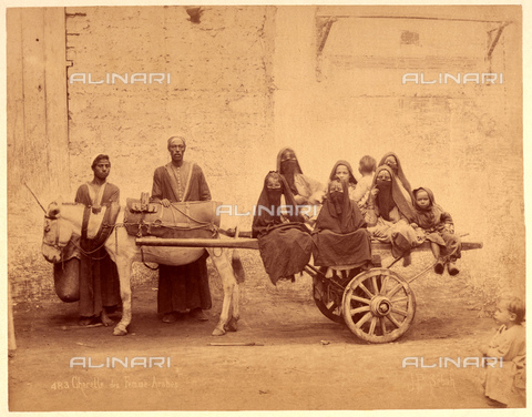 GBB-F-007347-0000 - 1890 ca, EGYPT: The cart with Arab women and girls. - © ARCHIVIO GBB / Archivi Alinari