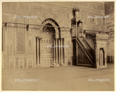 GBB-F-007351-0000 - 1890 ca, CAIRO, EGYPT: The Mosque-Madrassa of SULTAN HASSAN (the Sanctuary and Ghaire) - © ARCHIVIO GBB / Archivi Alinari