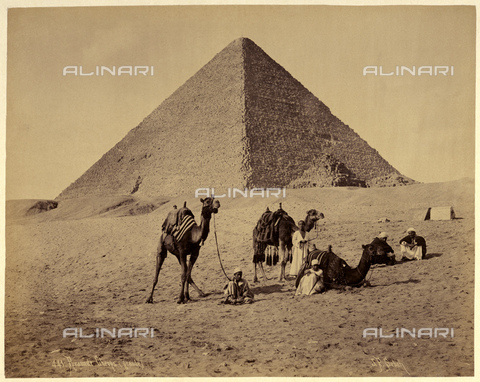 GBB-F-007353-0000 - 1890 ca, EL GIZA, EGYPT: The Great Pyramid of Giza (also known as the Pyramid of Khufu or the Pyramid of Cheops) - © ARCHIVIO GBB / Archivi Alinari