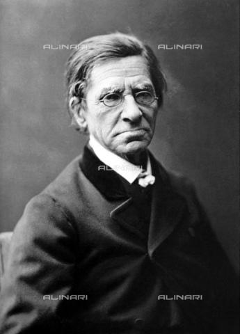 """GBB-F-007860-0000 - 1875 ca, FRANCE: Emile Maximilien Paul Littré (1801-1881) was a French lexicographer and philosopher, best known for his Dictionnaire de la langue francaise, commonly called"""" The Littré"""". - © ARCHIVIO GBB / Archivi Alinari"""