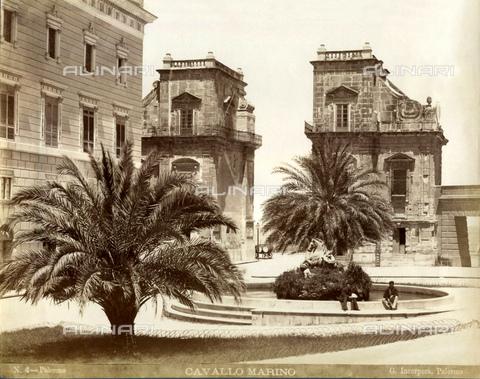 GBB-F-007889-0000 - 1875 ca, PALERMO, ITALY: The CAVALLO MARINO fountain by sculptor Ignazio Marabitti, XVIII Century, in Piazza Santo Spirito. - © ARCHIVIO GBB / Archivi Alinari