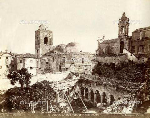 GBB-F-007902-0000 - 1875 ca, PALERMO, ITALY: The Chiesa di SAN GIOVANNI degli EREMITI and the Chiostro XII Century - © ARCHIVIO GBB / Archivi Alinari