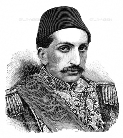GBB-F-008015-0000 - 1890 ca, Costantinopole, Turkey: The Ottoman Turkish Sultan ABDUL HAMID II (1842-1918) was the 35th sultan of the Ottoman Empire. He ruled from 1876 until he was deposed in 1909. Between 1894 and 1897, Sultan ABDULHAMID II massacres the Armenian populace began, resulting in the deaths of between 100,000 and 300,000 Armenians including men, women and children. This kind of death toll would not be seen until the Armenian Genocide in 1915 - © ARCHIVIO GBB / Archivi Alinari