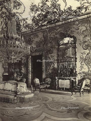 GCQ-F-003863-0000 - The Salon Gasparini, in the Palacio Real-Palaco de Oriente, Madrid, Spain - Date of photography: 1920-1930 ca. - Fratelli Alinari Museum Collections, Florence