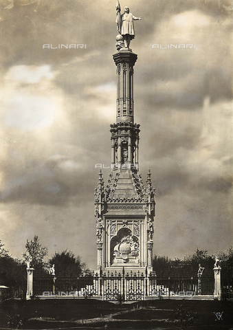 GCQ-F-003940-0000 - Monument to Christopher Columbus, by Jeronimo Sunol, in the Plaza de Colon, Madrid, Spain - Date of photography: 1920-1930 ca. - Fratelli Alinari Museum Collections, Florence